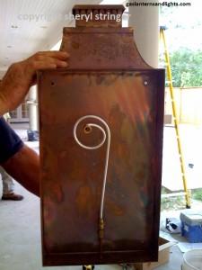 Gas lantern installation