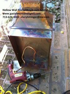 gas lantern installation connection 5
