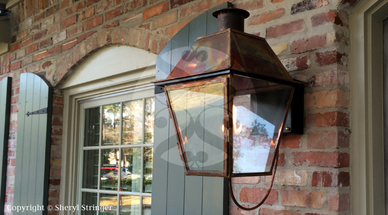 Outdoor gas lights houston outdoor lighting sheryl s new orleans style gas light with solid top in houston aloadofball Choice Image
